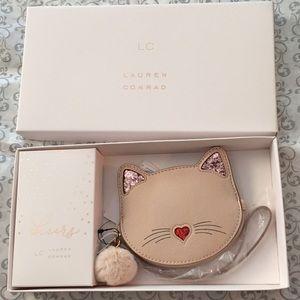 Lauren Conrad Kitty Cat Wristlet Coin Purse Wallet